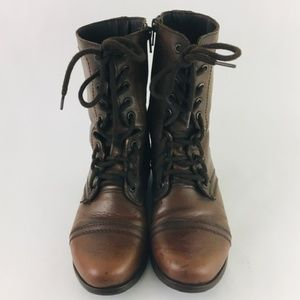 Steve Madden Troopa Leather Combat Boots 6M